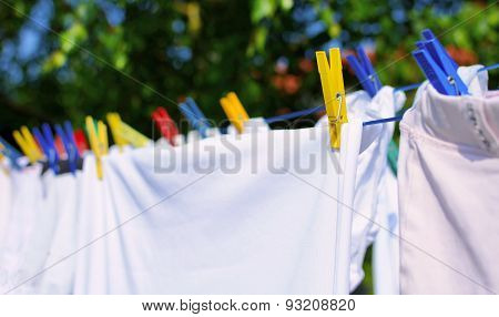 Laundry On The Clothesline
