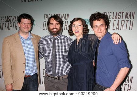 LOS ANGELES - JUN 10:  Christopher Miller, Will Forte, Kristen Schaal, Phil Lord at the FOX's
