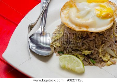 Thai Fried Rice With Egg On Top