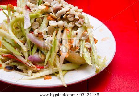 Thai Spicy Mango Papaya Salad