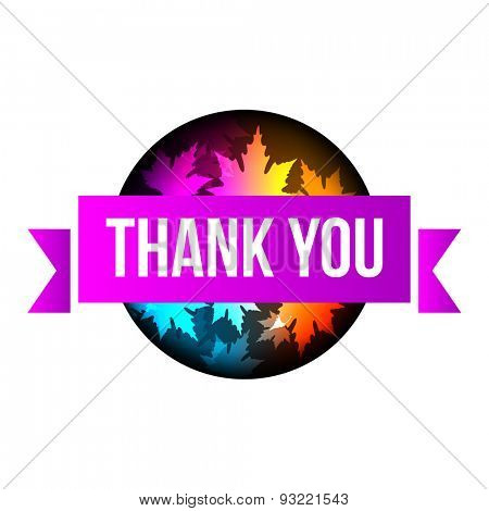 sign Thank You autumn leaves 10eps