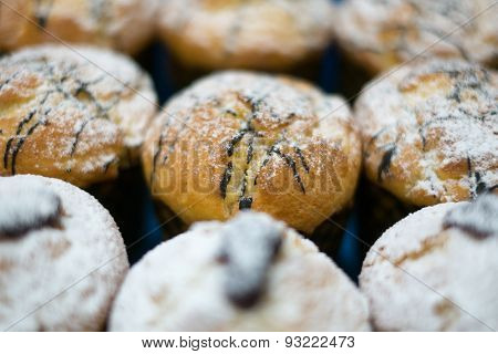 Muffins With Chocolate And Jam