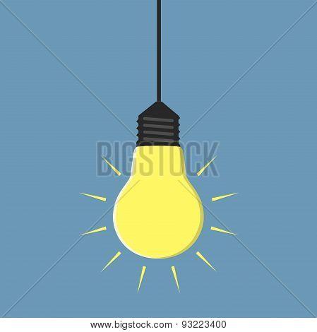 Glowing Light Bulb Hanging