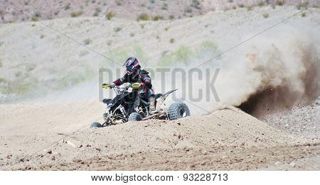 A Four Wheeler Racer Practices At Sara Park