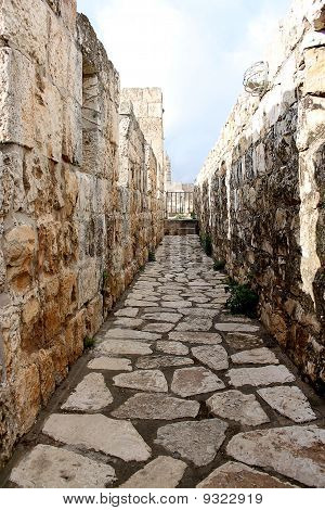 Stone passage Or Walkway In An Ancient Ruin