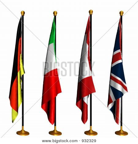 International Flags On Stands 1