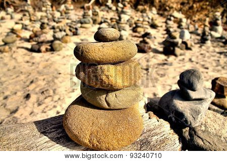 stone balancing at pfeiffer beach