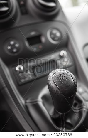 view of the manual gearbox