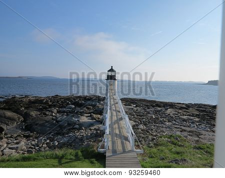 Marshall Point Lighthouse at Twilight in Maine