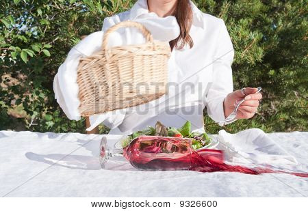 Woman Spilling Wine