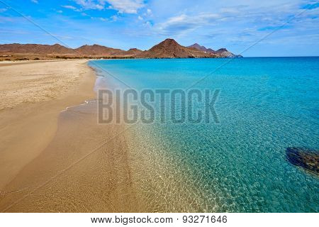 Almeria Playa de los Genoveses beach in Cabo de Gata Spain