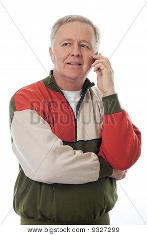 Senior At The Phone