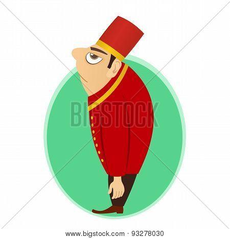 bellhop, bellboy, bellman or doorman