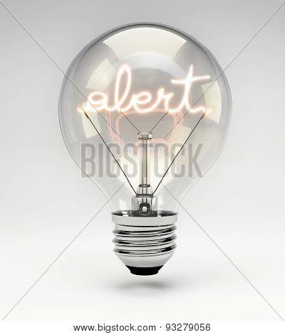 Conceptual Light Bulb (set) - Alert