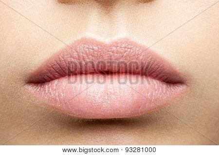 Perfect Natural Full Lips Close-up
