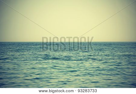 Nature Sea Background In Vintage Style