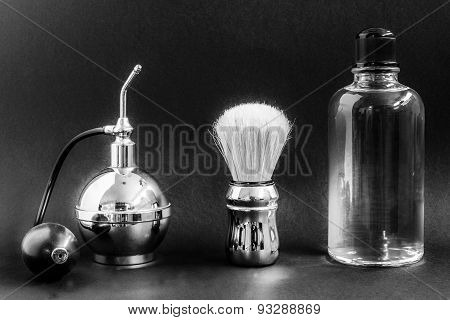 shaving brush and vaporizer