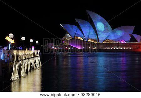 Sydney Opera House Moonscape Vivid Sydney