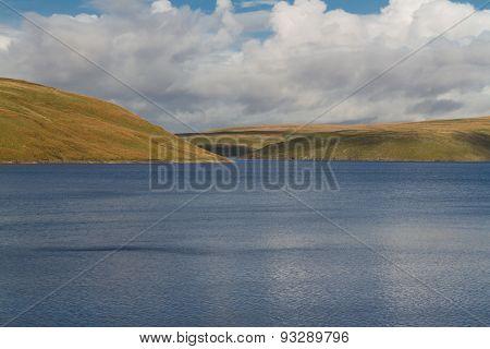 The Claerwen Reservoir, On Edge Of Mid-wales Wilderness.