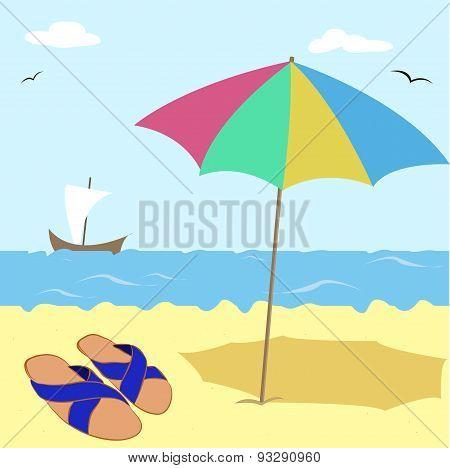 slates on the sand