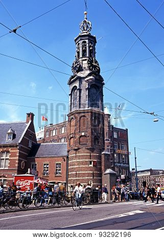 Munttoren Clock Tower, Amsterdam.