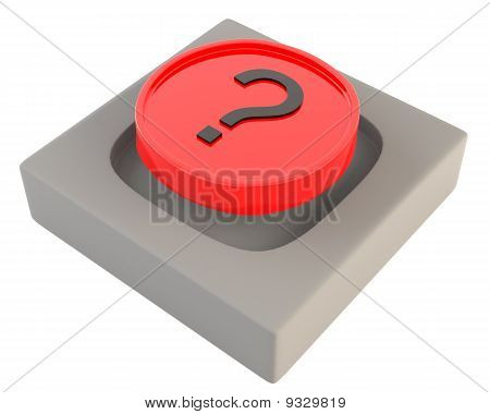 Red button with question sign
