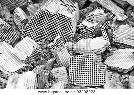 Pieces Of Broken Catalytic Converter