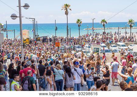 Pride Parade In Tel Aviv 2015 .