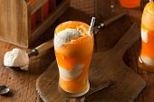 Orange Soda Creamsicle Ice Cream Float with a Straw poster
