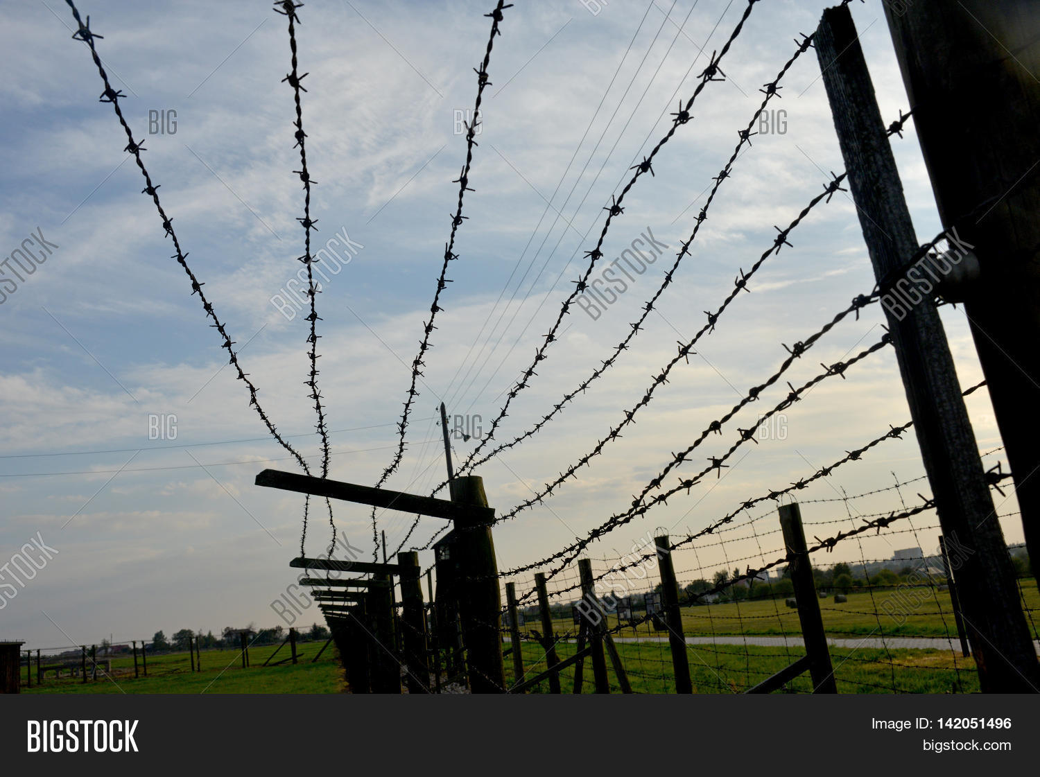 Barb-wire Fence Image & Photo (Free Trial) | Bigstock