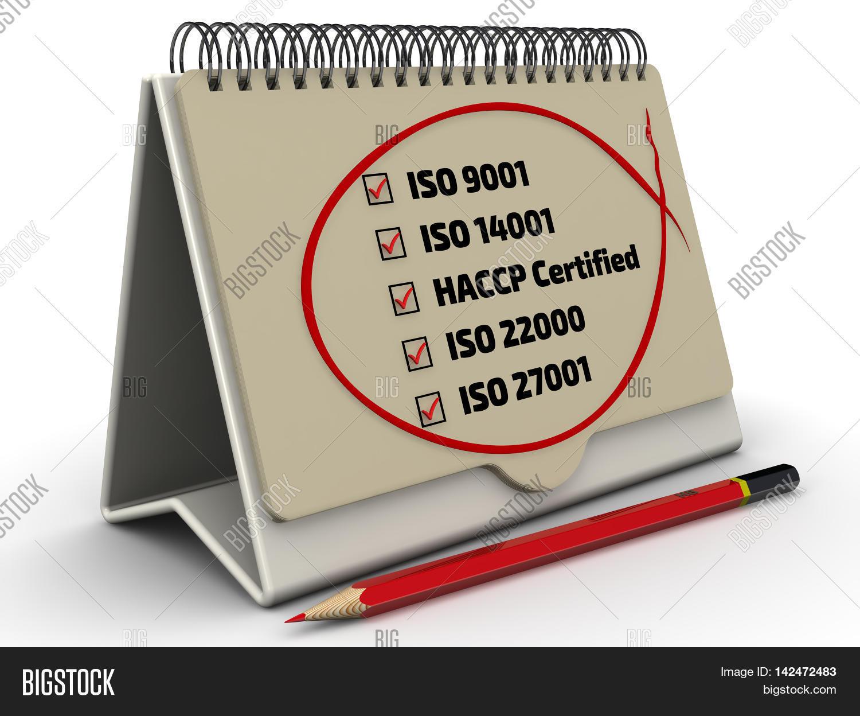List Of Iso Standards With The Checklist In Desktop Organizer