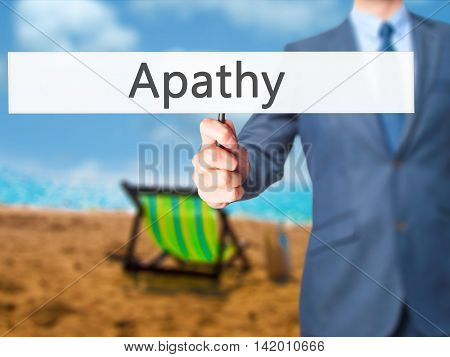 Apathy - Business Man Showing Sign