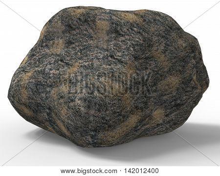 3D Render Of Rock Stone