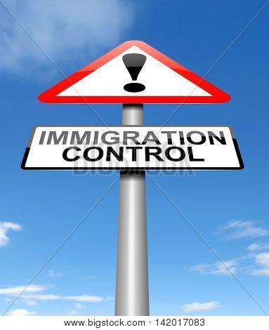 Immigration Control Concept.