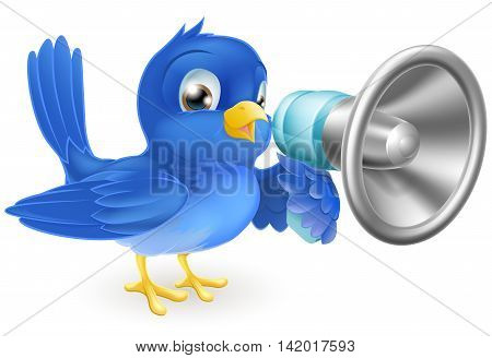 Bluebird With Megaphone