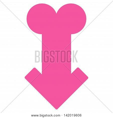 Male Sexual Disfunction vector icon. Style is flat symbol, pink color, rounded angles, white background.