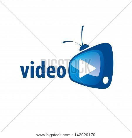 logo design template tv. Vector illustration sign