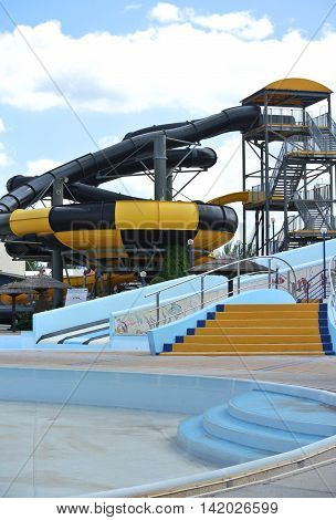 ANAPA, RUSSIA: Broken Hill City Water Park, holiday season has not started yet
