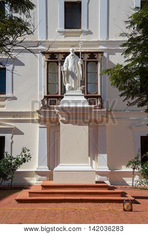 NEW NORCIA,WA,AUSTRALIA-JULY 15,2016: Statue detail in the exterior courtyard at The Benedictine Monastery in the historic monastic town of New Norcia, Western Australia.