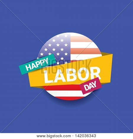 Labor day vector background. vector happy labor day poster or banner with with flag. labor day sale