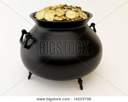 Cauldron With Money