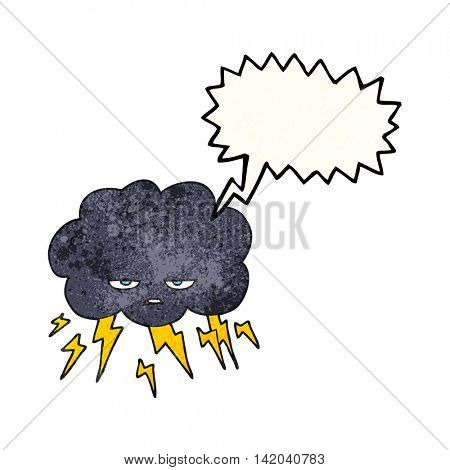 freehand speech bubble textured cartoon thundercloud