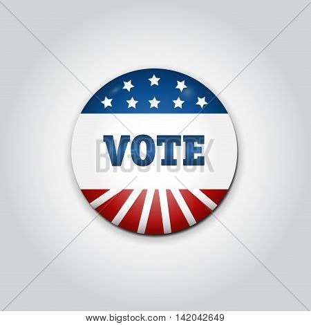 Badge Vote. US presidential election in 2016.