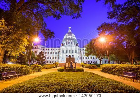 Mississippi State Capitol in Jackson, Mississippi, USA.