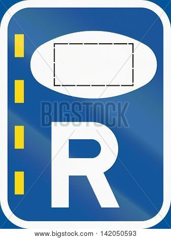 Road Sign Used In The African Country Of Botswana - Reserved Lane For Authorised Vehicles