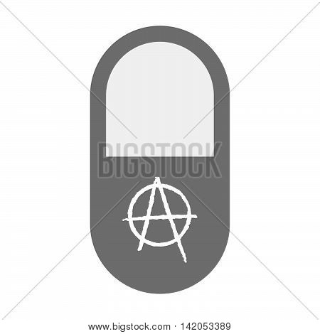 Isolated Pill Icon With An Anarchy Sign