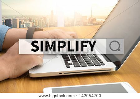 SIMPLIFY SEARCH WEBSITE INTERNET SEARCHING business man work