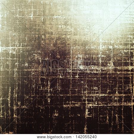 Vintage colorful textured background. Backdrop in grunge style with antique design elements and different color patterns: yellow (beige); brown; gray; black; white