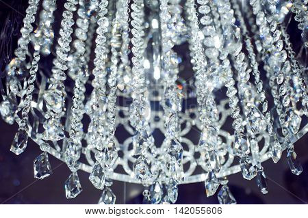 Chandelier With Shiny Crystals
