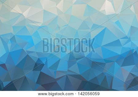 Vector abstract bright blue geometric background, consists of triangles. Polygonal abstract aqua background. Vector illustration